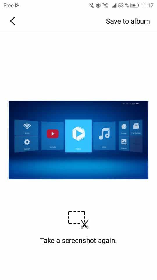 Prise de screenshots avec l'application Royole