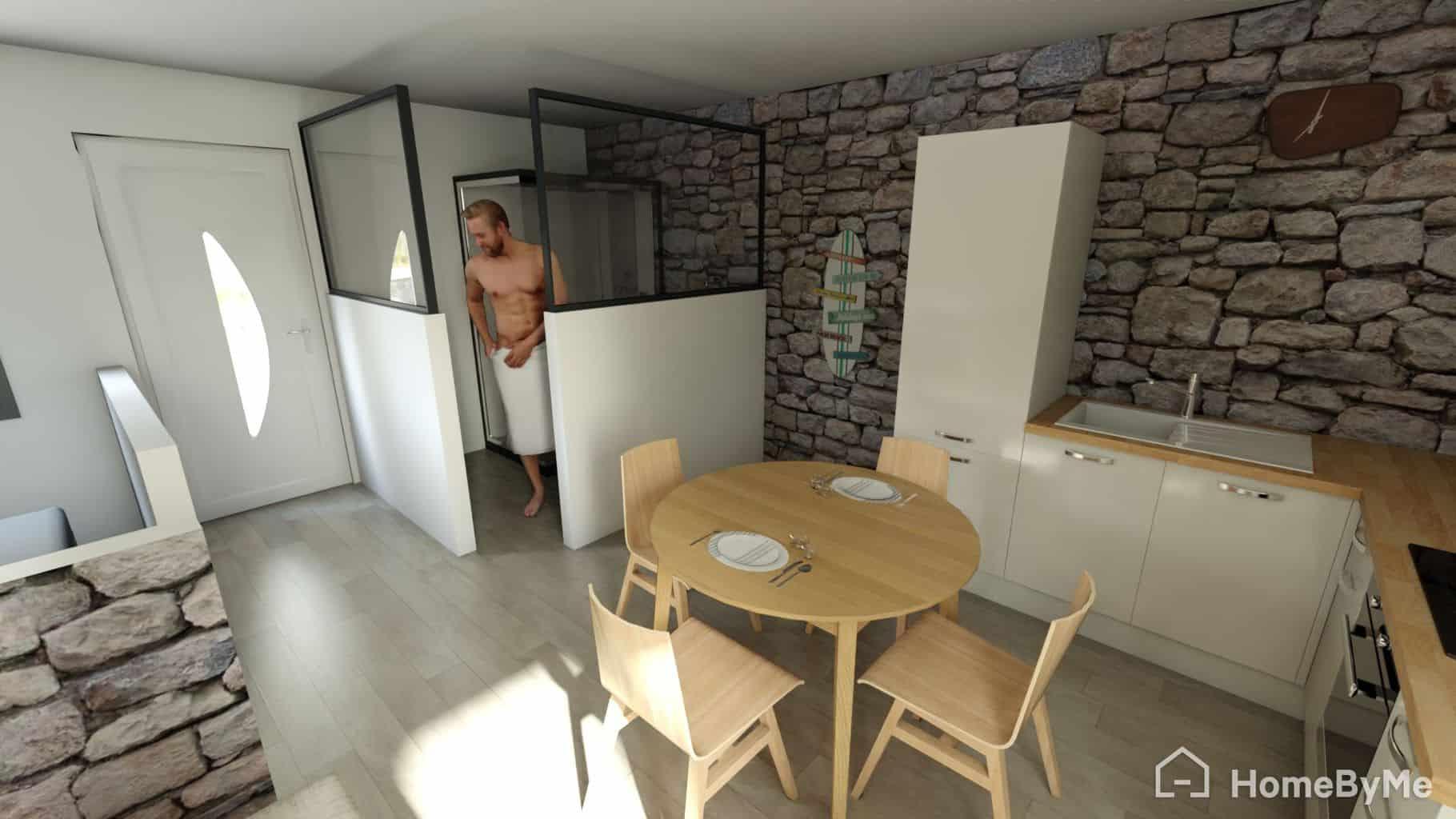 Salle à manger de notre Studio HomeByMe