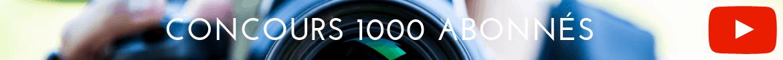 Concours 1000 abonnés youtube