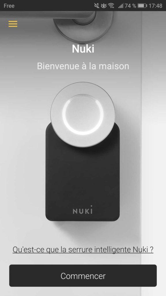 Paramétrage de la Nuki App 02