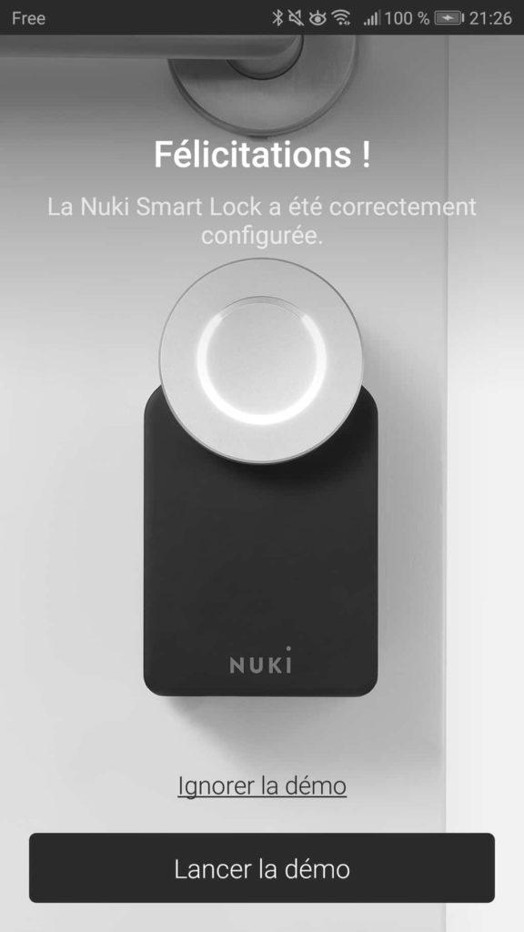 Paramétrage de la Nuki App 20