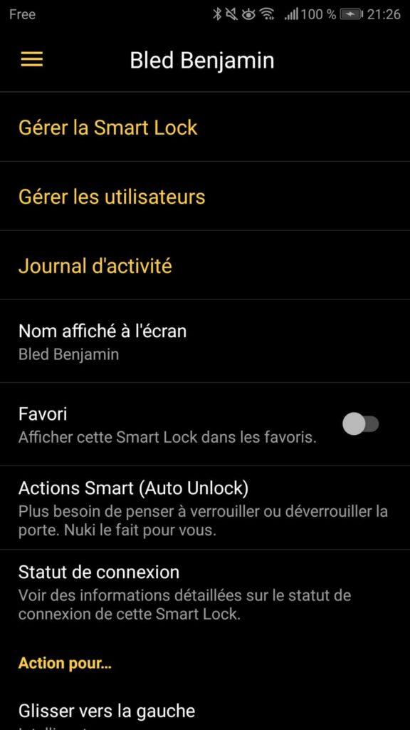 Paramétrage de la Nuki App 22