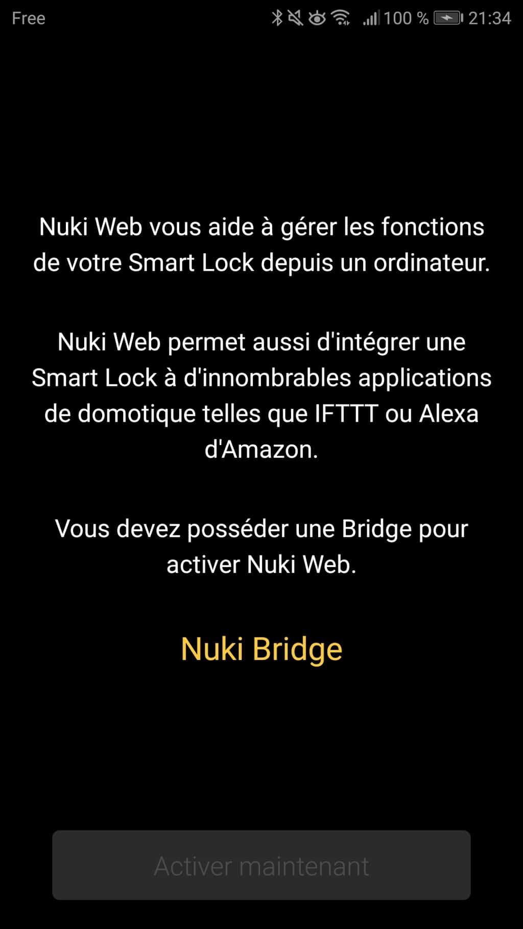 IFTTT et Amazon Alexa pour Nuki