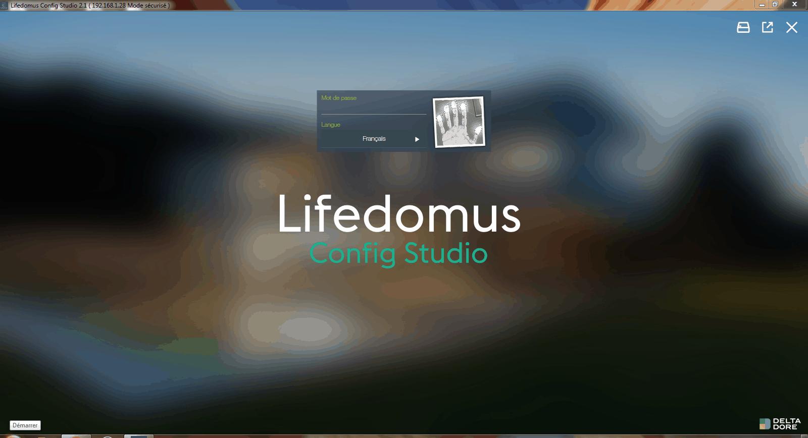 Mot de passe Lifedomus Config Studio