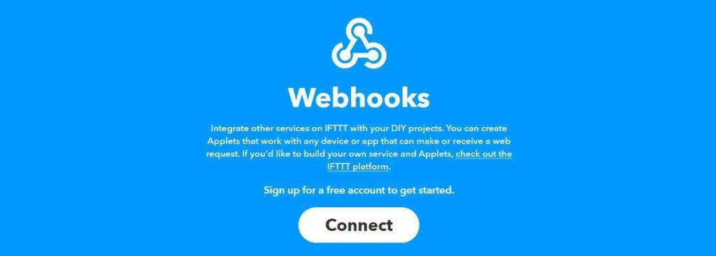 IFTTT et le service HTTP Webhook