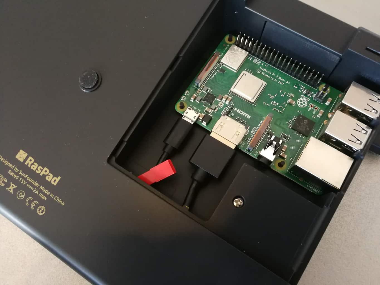 Intégration du Raspberry dans le Raspad