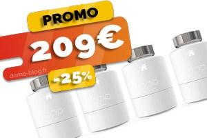 #VEILLE Le kit 4 têtes thermostatiques connectées Tado en #PROMO pour seulement 175€ (-30%)