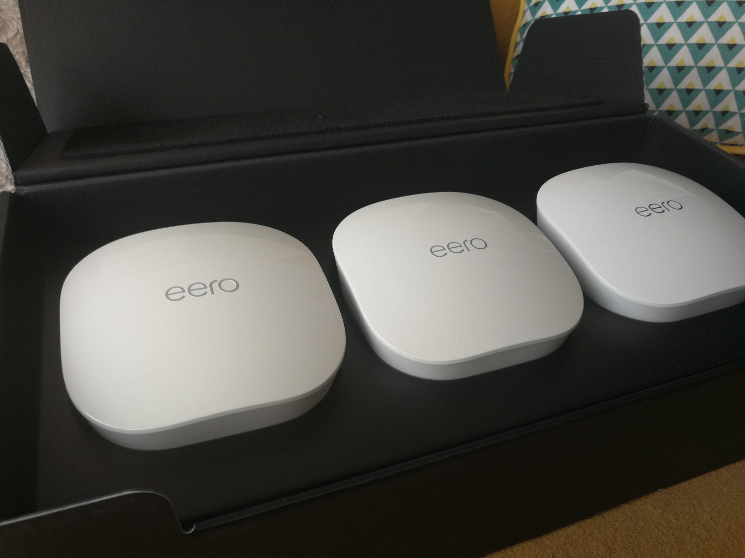 Présentation des boitiers Eero